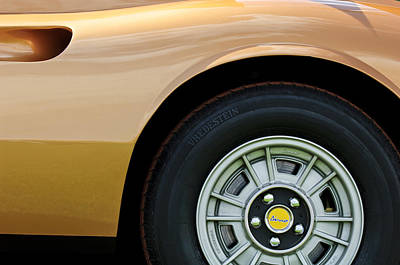 Photograph - 1973 Ferrari 246 Dino Gts Wheel Emblem by Jill Reger