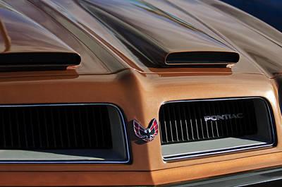 Photograph - 1974 Pontiac Firebird Grille Emblem by Jill Reger