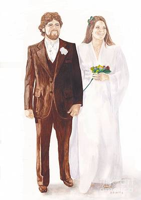 Photograph - 1978 Wedding by Michelle Welles