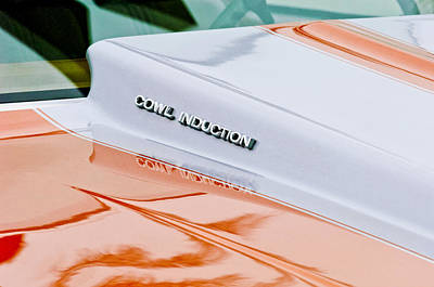Photograph - 1980 Chevrolet Malibu Ss Cowl Induction Hood Emblem by Jill Reger
