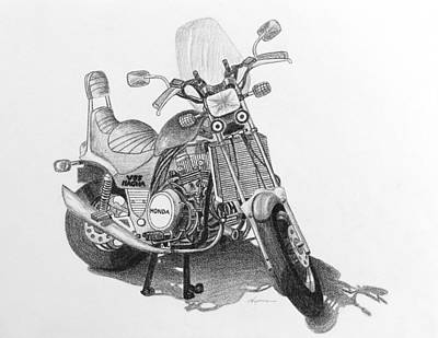 Drawing - 1984 Honda V65 Magna by Kume Bryant