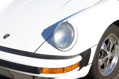 Photograph - 1987 White Porsche 911 Carrera Front by James BO Insogna
