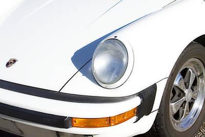 1987 White Porsche 911 Carrera Front Print by James BO  Insogna