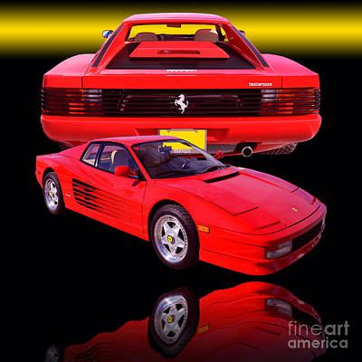 1990 Ferrari Testarossa Art Print by Jim Carrell
