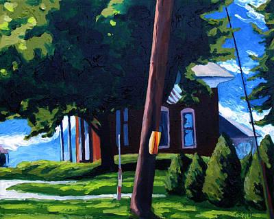 Brick Houses Painting - 19th C. Corner Brick by Charlie Spear