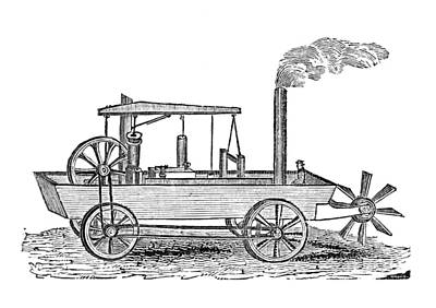 19th Century Amphibious Vehicle, Artwork Art Print