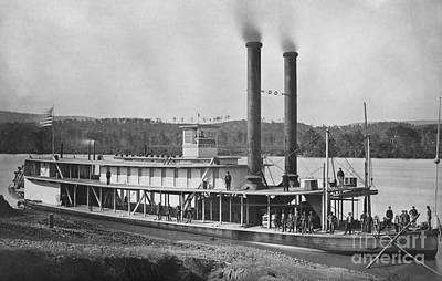 19th Century Army Steamer Art Print by Photo Researchers
