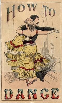 19th Century Dance Manual, How Art Print by Everett