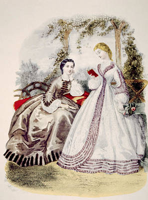 Full Skirt Photograph - 19th Century Fashion Illustration by Everett
