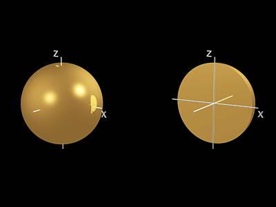 1s Electron Orbital Print by Dr Mark J. Winter