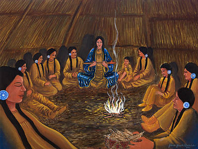 1st Pipe Ceremony Art Print by James Roderick
