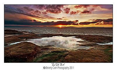 Photograph -  Red Rock Beach by Beverly Cash