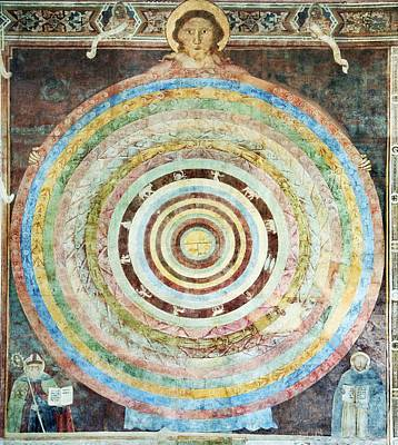 Sun Moon And Sky Photograph - 14th Century Theological Cosmography by Sheila Terry