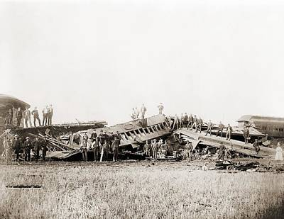 1887 Great Chatsworth Train Wreck Art Print