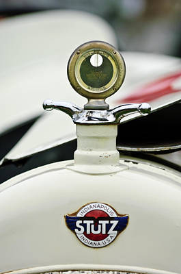 Photograph - 1915 Stutz White Squadron Hood Ornament by Jill Reger