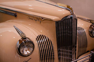 Hood Ornament Photograph - 1941 Packard Darrin Victoria Convertible by David Patterson