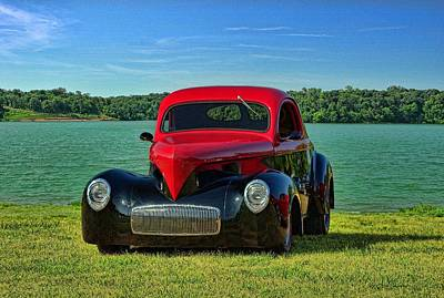 Photograph - 1941 Willis Hot Rod by TeeMack