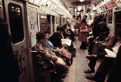 1970s America. Graffiti On A Subway Art Print by Everett