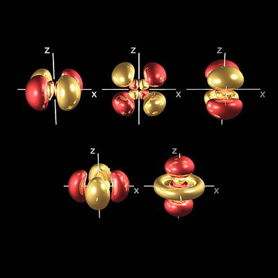 4d Electron Orbitals Art Print by Dr Mark J. Winter