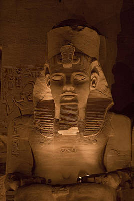 A Close View Of Ramses IIs Temple Art Print by Taylor S. Kennedy