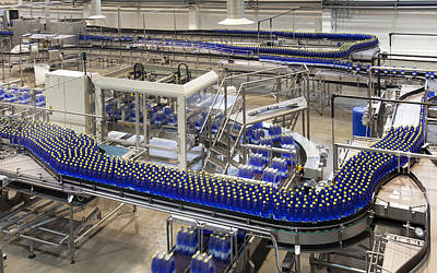 Material Glass Photograph - A Drinks Bottling Plant In Estonia by Jaak Nilson