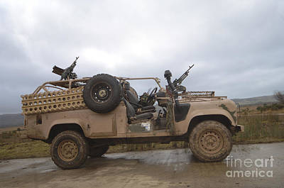 Pink Panther Photograph - A Pink Panther Land Rover by Andrew Chittock