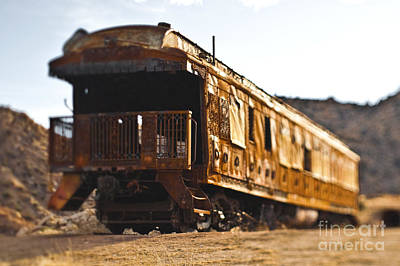 Pioneertown Photograph - Abandoned Train Car by Eddy Joaquim