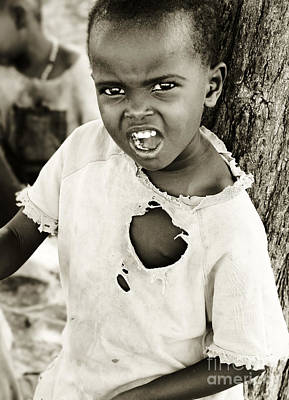 Photograph - African Child by Anna Om
