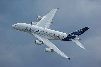 Photograph - Airbus A380 by Tim Beach