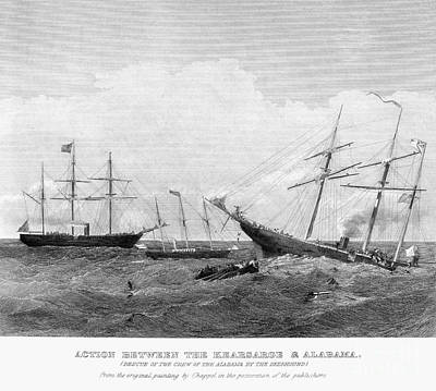 Alabama Vs Kearsarge, 1864 Art Print by Granger
