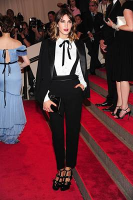 Metropolitan Museum Of Art Photograph - Alexa Chung Wearing A 3.1 Phillip Lim by Everett