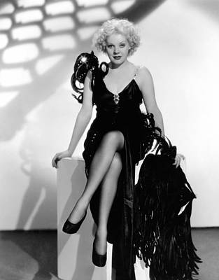Evening Gown Photograph - Alice Faye, Ca. Mid-1930s by Everett