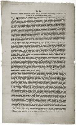 Alien And Sedition Acts Of 1798 Art Print by Everett