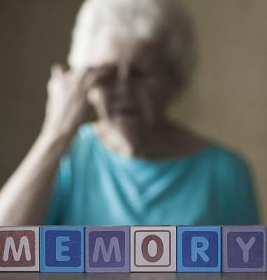 Alzheimer's Disease, Conceptual Image Art Print