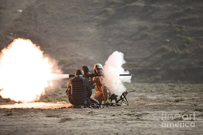 Afghanistan National Police Photograph - An Afghan Police Studen Fires by Terry Moore