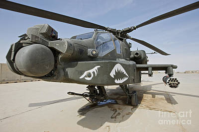 Impressionist Landscapes - An Ah-64d Apache Helicopter At Cob by Terry Moore