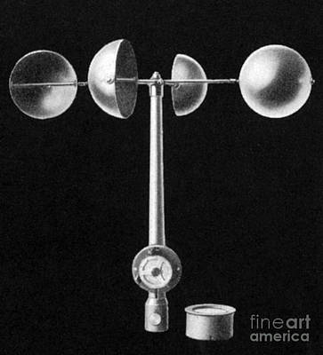 Anemometer Photograph - An Anemometer by Science Source