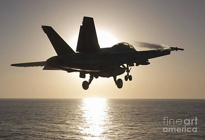 An Fa-18f Super Hornet Takes Art Print by Gert Kromhout