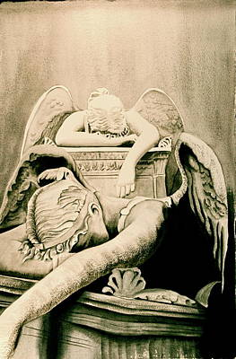Angel Of Grief Art Print