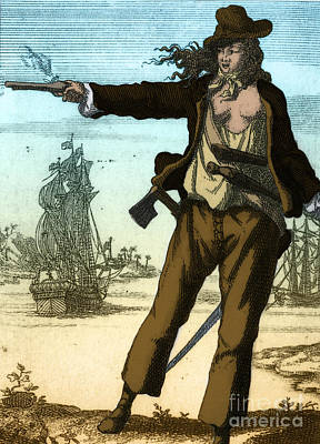 Female Pirate Photograph - Anne Bonny, 18th Century Pirate by Photo Researchers