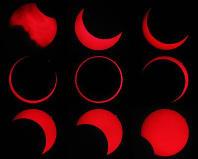 Annular Solar Eclipse Art Print by Laurent Laveder