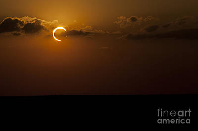 Annular Solar Eclipse Art Print by Phillip Jones