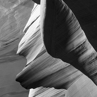 Photograph - Antelope Canyon Sandstone Abstract by Mike Irwin