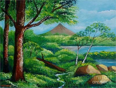 Arenal Volcano Art Print