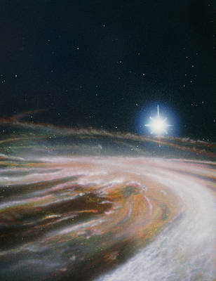 Artist's Impression Of The Formation Of A New Star Art Print by Julian Baum