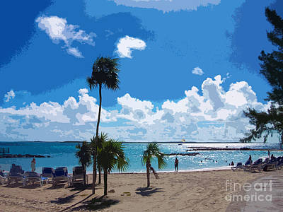 Coco Cay Resort Painting - Bahamas Cruise To Nassau And Coco Cay by Allan  Hughes