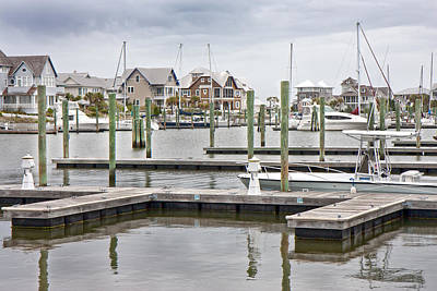 Sailboat Photograph - Bald Head Island Marina  by Betsy Knapp