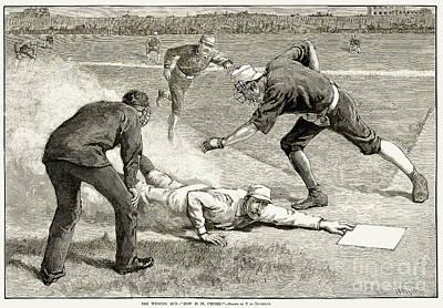Baseball Game, 1885 Art Print by Granger