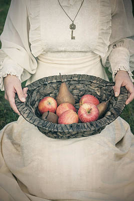 Apple Photograph - Basket With Fruits by Joana Kruse