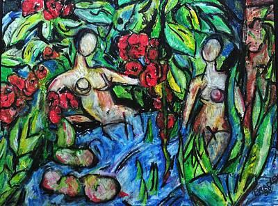 Bathers 98 Art Print by Bradley Bishko